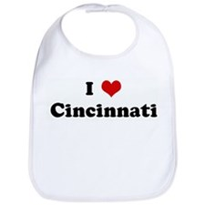 I Love Cincinnati Bib