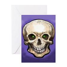 Cute Crystal skulls Greeting Card