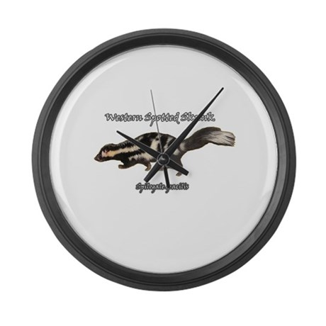 Western Spotted Skunk Large Wall Clock