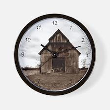 Tobacco Barn Wall Clock