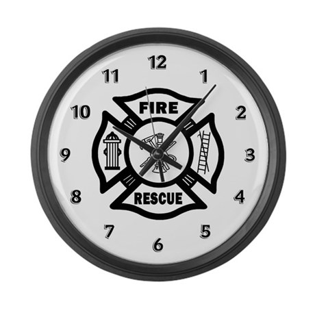 Fire Rescue Large Wall Clock