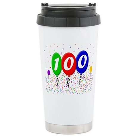 100th Birthday Stainless Steel Travel Mug