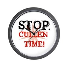 'STOP. Cullen Time!' Wall Clock