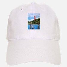 Jupiter Inlet Lighthouse Pelicans Baseball Baseball Cap
