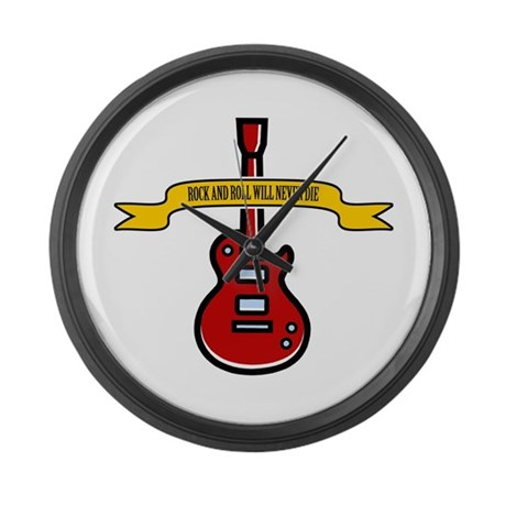 Rock Will Never Die Large Wall Clock
