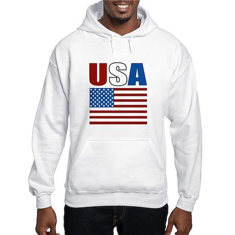 Patriotic USA Hooded Sweatshirt