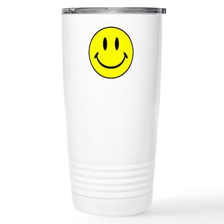 Smiley Face Stainless Steel Travel Mug