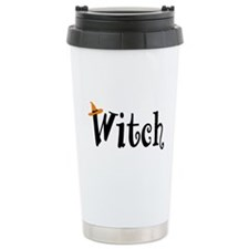 Witch (Orange Hat) Travel Coffee Mug