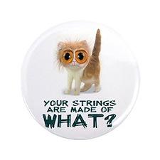 "Violin Strings Kitten Button 3.5"""
