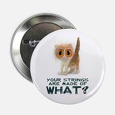 "Violin Strings Kitten Button 2.25"""