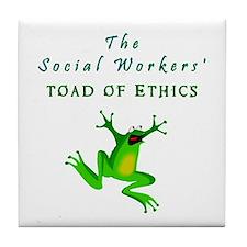 Cute Funny social work Tile Coaster
