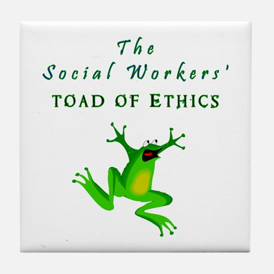 Unique Funny social work Tile Coaster