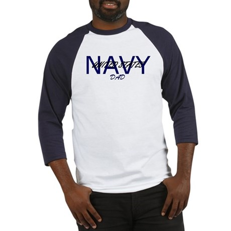dad navy 4 Baseball Jersey