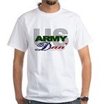 US Army Dad White T-Shirt