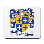 Guillaume Family Crest Mousepad