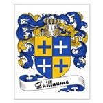 Guillaume Family Crest Small Poster