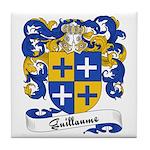 Guillaume Family Crest Tile Coaster