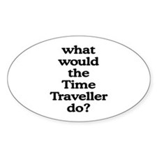Time Traveller Oval Decal