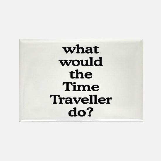 Time Traveller Rectangle Magnet