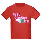 First Camping Trip Kids Dark T-Shirt