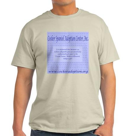 Pet Overpopulation Ash Grey T-Shirt