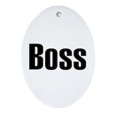 Boss Oval Ornament