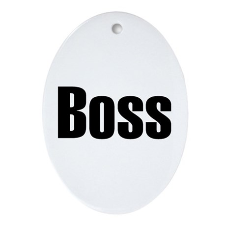 Boss Oval Ornament