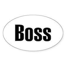 Boss Oval Stickers