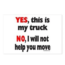 YES, THIS IS MY TRUCK Postcards (Package of 8)