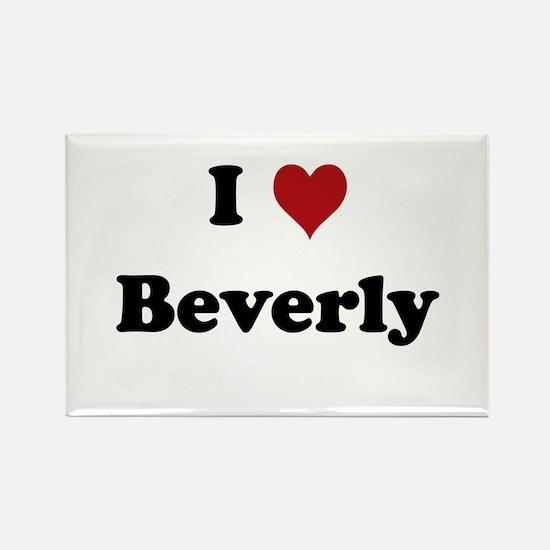 I love Beverly Rectangle Magnet