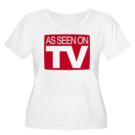 As Seen On TV Women's Plus Size Scoop Neck T-Shirt