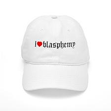 """I [heart] blasphemy"" Baseball Cap"