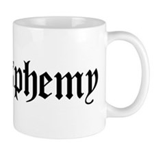 """I [heart] blasphemy"" Small Mug"