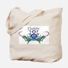 Dwight's Celtic Dragons Name Tote Bag