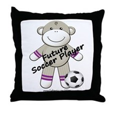 Future Soccer Player Throw Pillow
