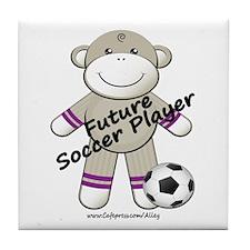 Future Soccer Player Tile Coaster