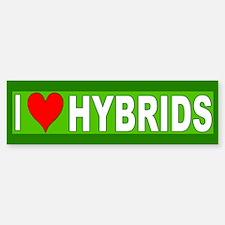 I Love Hybrids Bumper Bumper Bumper Sticker
