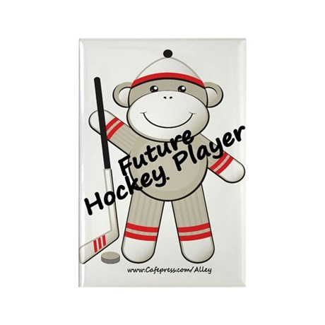 Future Hockey Player Rectangle Magnet (10 pack)