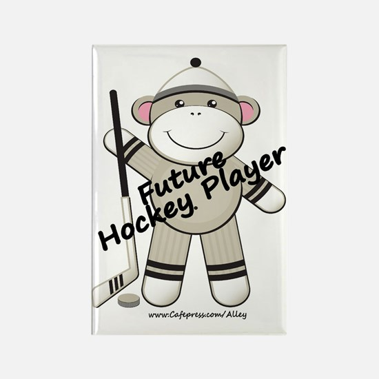 Future Hockey Player Rectangle Magnet