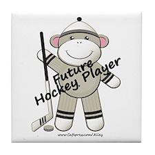Future Hockey Player Tile Coaster