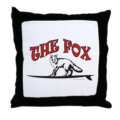 The Fox Model Throw Pillow