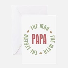 Papa Man Myth Legend Greeting Card