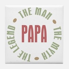 Papa Man Myth Legend Tile Coaster