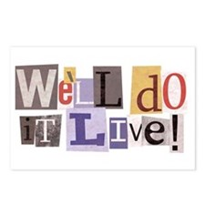 We'll Do It Live Postcards (Package of 8)