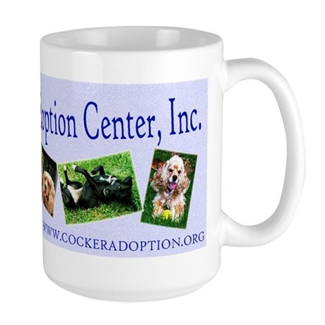 Cocker Spaniel Adoption Center Large Mug