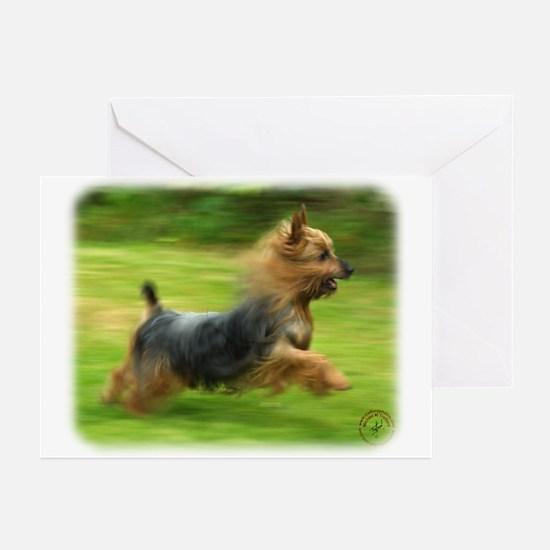 Australian Silky Terrier 9B19D-03 Greeting Cards (