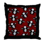 Skeletons Throw Pillow