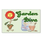 Garden Diva Rectangle Sticker
