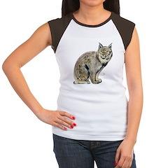 Lynx Wild Cat (Front) Women's Cap Sleeve T-Shirt