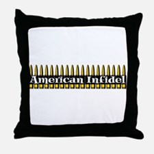 American Infidel (Bullets) Throw Pillow